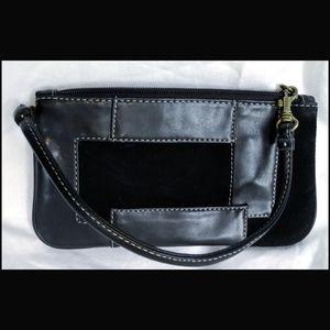 Nine West Leather Trim Wristlet